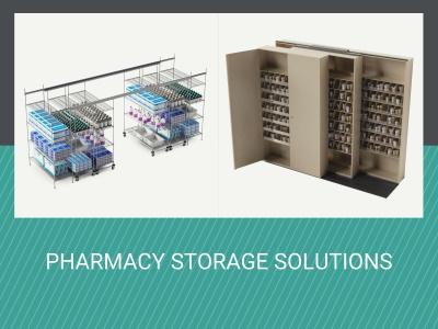 hospital pharmacy shelving systems
