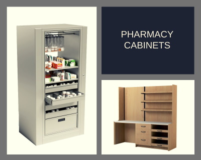 pharmacy casework rotary filing cabinets