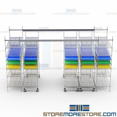pharmacy roll track shelving