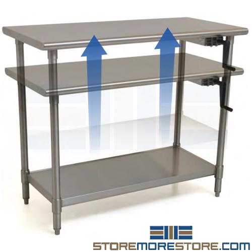 ergonomic adjustable stainless steel table