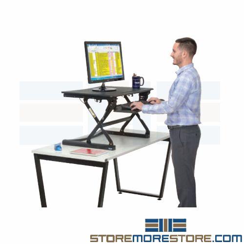 ergonomic sit stand office workstation