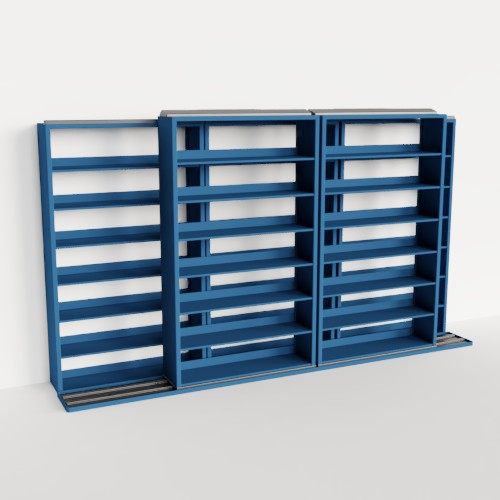 filing records management sliding mobile shelves
