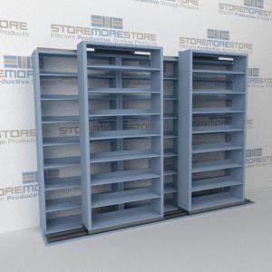 mobile sliding storage shelves