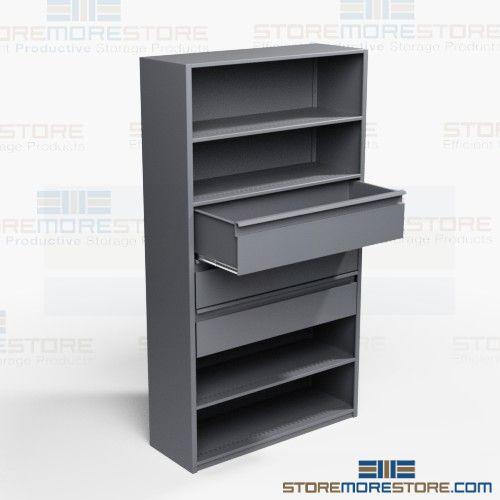 storage shelving racks with drawers