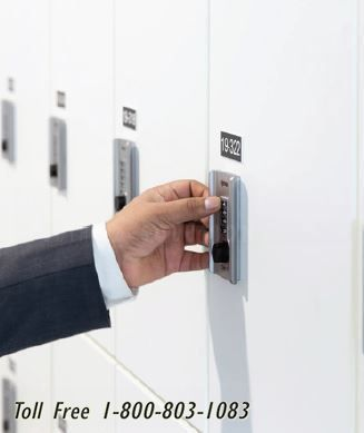 keyless locker storage