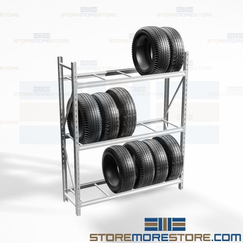 auto shop tire rack garage organization