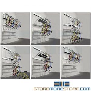 wall mount motorized bike lift