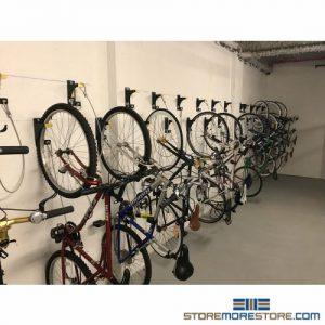 wall mounted hanging bike racks