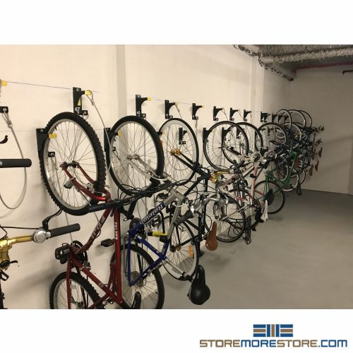 wall mounted hanging bike racks