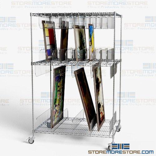 museum artwork storage carts