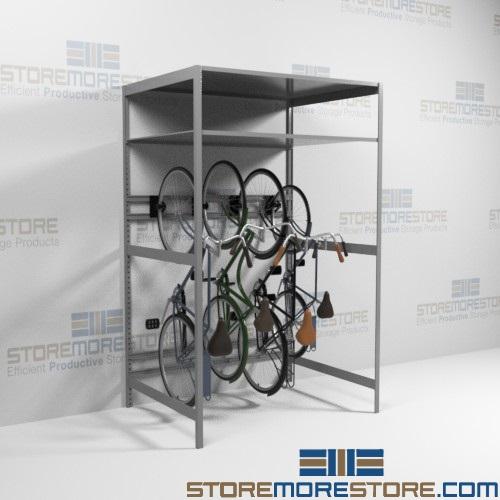outdoor storage bike racks