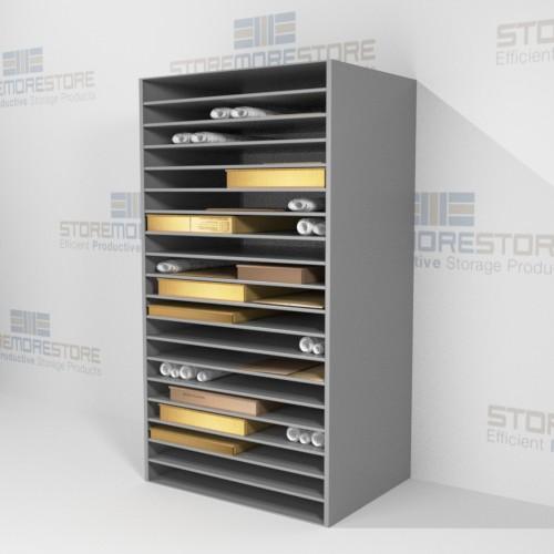 works on paper storage shelves