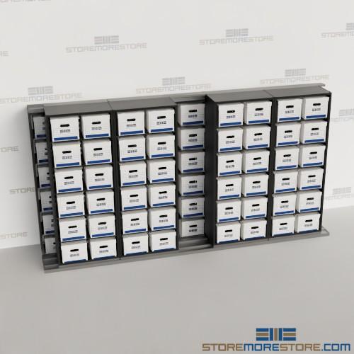rolling track shelving box storage